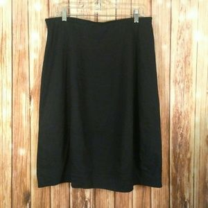 Eileen Fisher Skirt M side zip EUC black